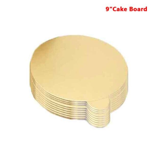Round Shape Gold Color Cake Board